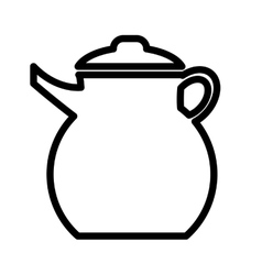 White cooking kettle graphic vector