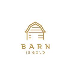 wooden gold barn farm vintage retro simple logo vector image