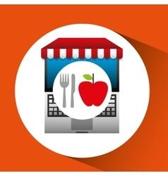 Apple online shopping app vector