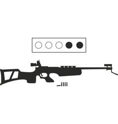 biathlon equipment vector image vector image
