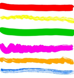 Brush blot on white background vector image