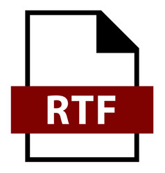 file name extension rtf type vector image vector image