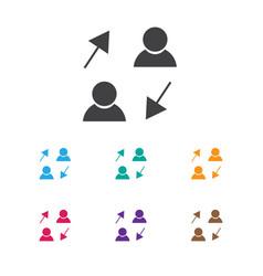 Of job symbol on sharing icon vector