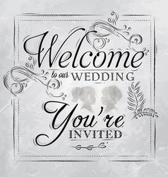 Wedding invitation coal vector image vector image