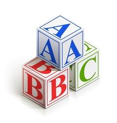 brick abc vector image vector image