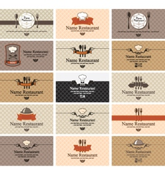 cards on food vector image vector image