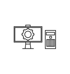 computer configuration icon vector image