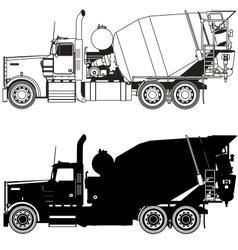 concrete mixer truck vector image vector image
