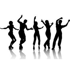 funky dancers vector image