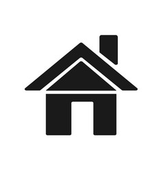 home black white flat icon vector image
