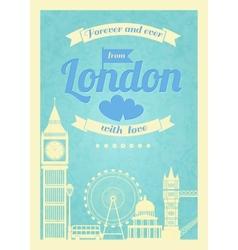 Love London vintage retro poster vector image vector image