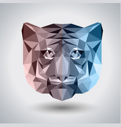 abstract polygonal tirangle animal tiger hipster vector image