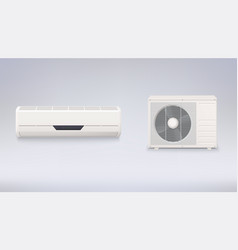 air conditioning electronic appliance to clean vector image vector image