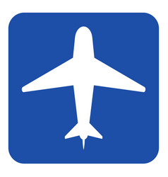 blue white information sign - airliner icon vector image vector image