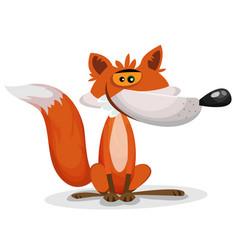 cartoon funny fox character vector image