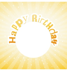 happy birthday card vector image vector image