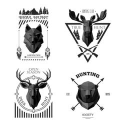 hunter socirty wolf vector image