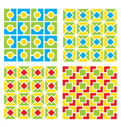 pattern simple geometrical retro background vector image vector image