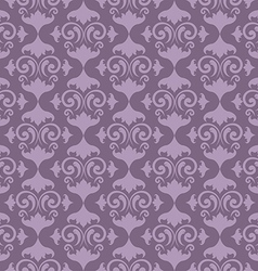 Seamless Floral Damask Wallpaper vector image