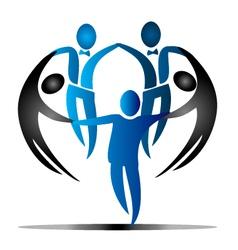 Team business social logo vector image vector image