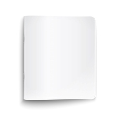 Blank closed copybook on white background vector