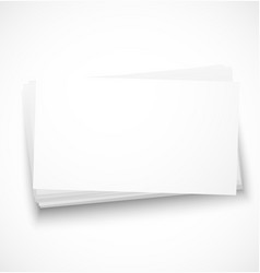 Business cards with shadow template vector image vector image