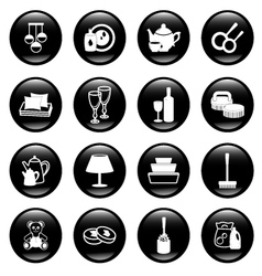 home work and equipment icons vector image