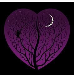 night in heart vector image vector image