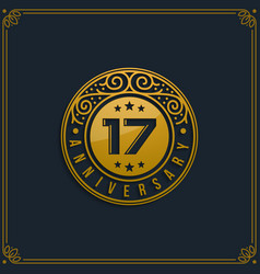 17th anniversary celebration vector image