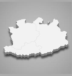 3d map antwerp is a province belgium vector