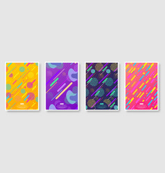 abstract covers set with seamless background vector image