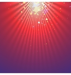 Abstract light beams with falling stars vector image vector image