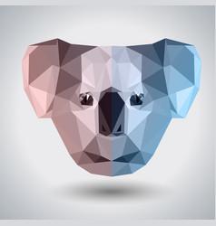 abstract polygonal tirangle animal koala hipster vector image