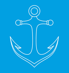 Anchor icon outline style vector