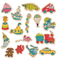 Baby Toys Stickers vector image