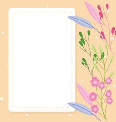 Bashower flowers decoration announce newborn vector