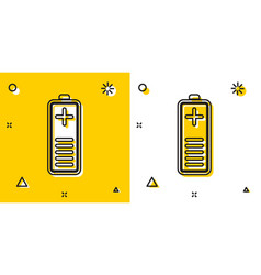 Black battery charge level indicator icon isolated vector