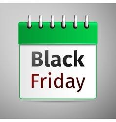 Black friday sale calendar on grey background vector image