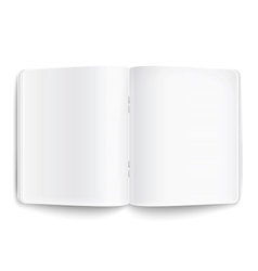 Blank opened copybook on white background vector image