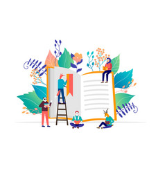 book festival concept vector image