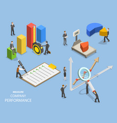Business benchmarking flat isometric vector