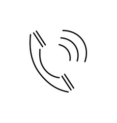 Calling phone icon vector