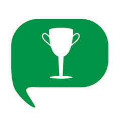 championship winner trophy symbol winner cup icon vector image