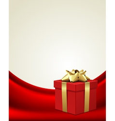 Christmas present box vector
