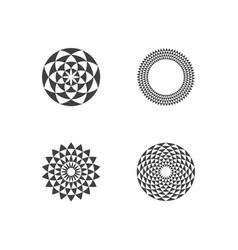circular fractal design elements vector image