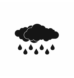 Cloud with rain drop icon simple style vector