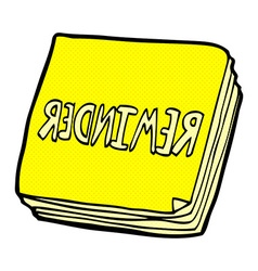 comic cartoon reminder notes vector image