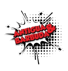 Comic text Antigua barbuda sound pop art vector