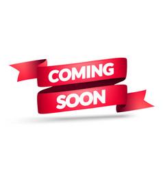 Coming soon ribbon vector