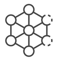 complex molecule icon outline style vector image